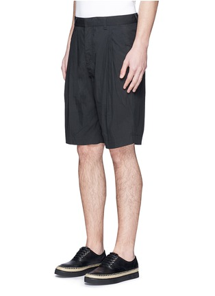 Front View - Click To Enlarge - Alexander Wang  - Double pleated front shorts