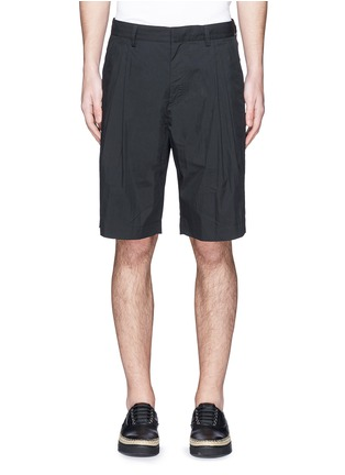 Main View - Click To Enlarge - Alexander Wang  - Double pleated front shorts