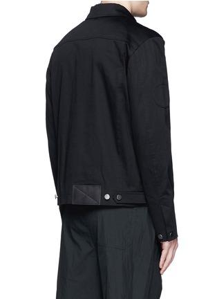 背面 - 点击放大 - ALEXANDER WANG  - 几何拼贴棉质夹克