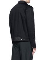 几何拼贴棉质夹克