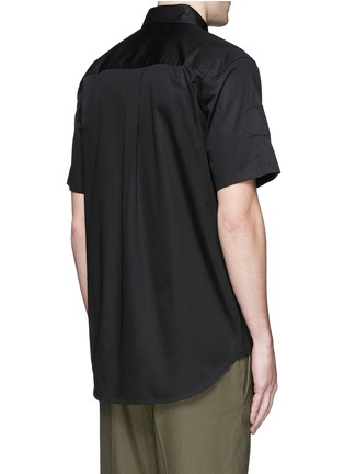 Back View - Click To Enlarge - Alexander Wang  - Patch appliqué cotton twill shirt