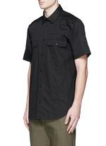 Patch appliqué cotton twill shirt