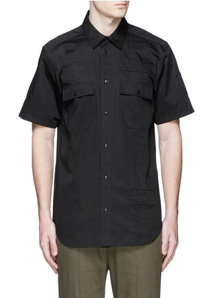 Main View - Click To Enlarge - Alexander Wang  - Patch appliqué cotton twill shirt