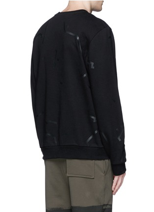 Back View - Click To Enlarge - Alexander Wang  - Shadow outline print sweatshirt