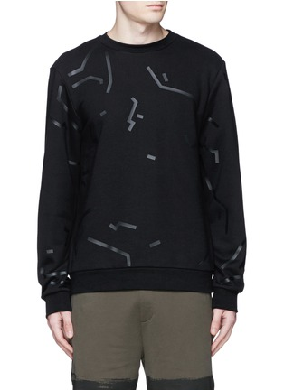 Main View - Click To Enlarge - Alexander Wang  - Shadow outline print sweatshirt