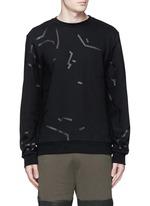 Shadow outline print sweatshirt