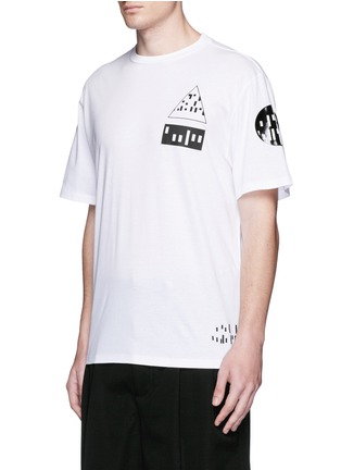 Front View - Click To Enlarge - Alexander Wang  - Multi media print T-shirt
