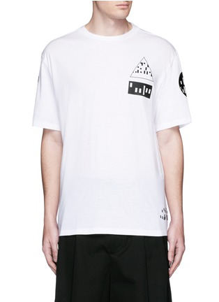 Main View - Click To Enlarge - Alexander Wang  - Multi media print T-shirt