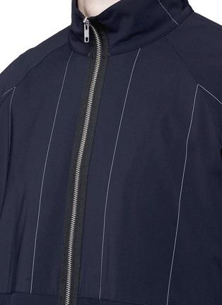 细节 - 点击放大 - ALEXANDER WANG  - 细条纹混初剪羊毛夹克