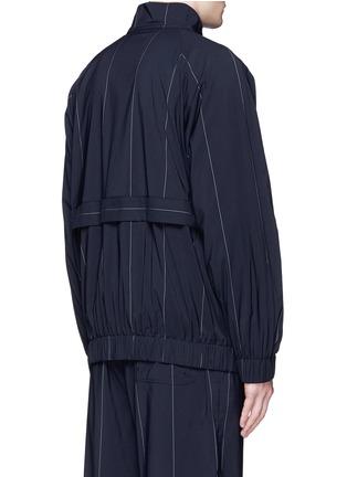背面 - 点击放大 - ALEXANDER WANG  - 细条纹混初剪羊毛夹克