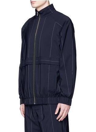 正面 -点击放大 - ALEXANDER WANG  - 细条纹混初剪羊毛夹克