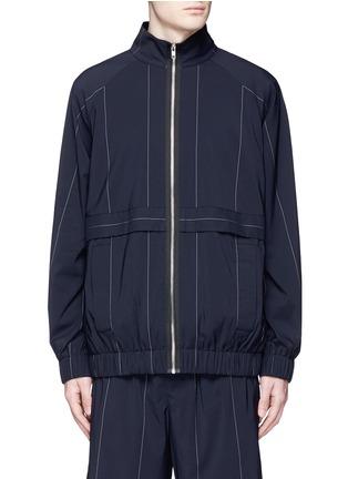 首图 - 点击放大 - ALEXANDER WANG  - 细条纹混初剪羊毛夹克