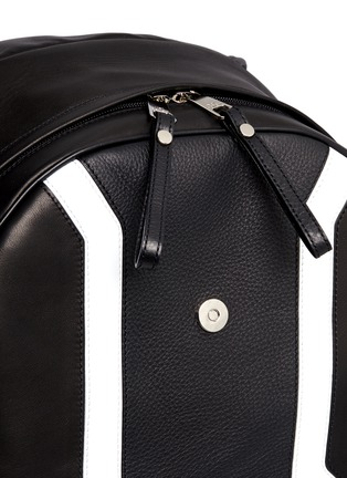 Detail View - Click To Enlarge - Neil Barrett - 'Memphis' contrast front backpack