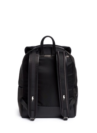 Back View - Click To Enlarge - Neil Barrett - 'Memphis' contrast front backpack