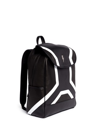Front View - Click To Enlarge - Neil Barrett - 'Memphis' contrast front backpack