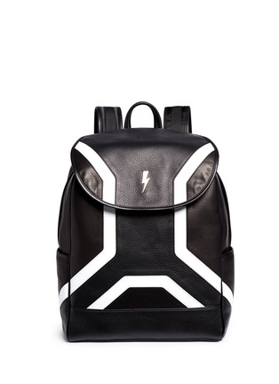Main View - Click To Enlarge - Neil Barrett - 'Memphis' contrast front backpack