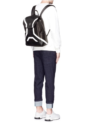 Figure View - Click To Enlarge - Neil Barrett - 'Memphis' contrast front backpack