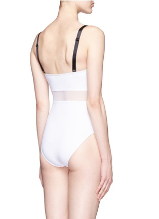 Back View - Click To Enlarge - Beth Richards - 'Agnes' mesh waist one-piece swimsuit