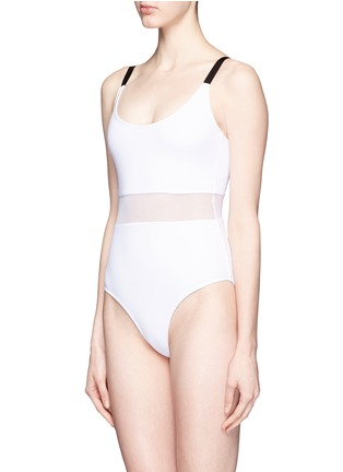 Figure View - Click To Enlarge - Beth Richards - 'Agnes' mesh waist one-piece swimsuit