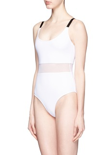 BETH RICHARDS 'Agnes' mesh waist one-piece swimsuit