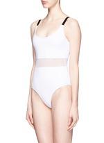 'Agnes' mesh waist one-piece swimsuit