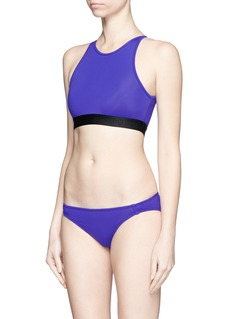 Beth Richards 'Fel' logo cropped swim top