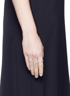 Messika 'Daisy' diamond 18k white gold three finger ring
