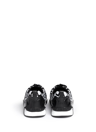 Back View - Click To Enlarge - Ash - 'Hit' python pattern knit sneakers