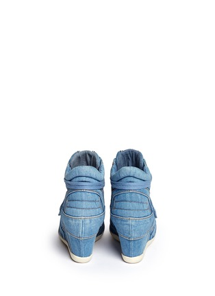 Back View - Click To Enlarge - Ash - 'Bowie' denim concealed wedge sneakers