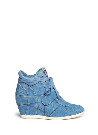 Main View - Click To Enlarge - Ash - 'Bowie' denim concealed wedge sneakers