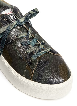 Detail View - Click To Enlarge - Ash - 'Cult' camouflage print leather platform sneakers