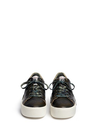 Front View - Click To Enlarge - Ash - 'Cult' camouflage print leather platform sneakers