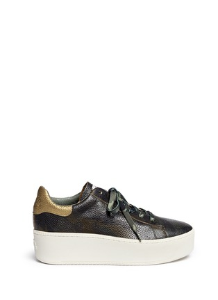 Main View - Click To Enlarge - Ash - 'Cult' camouflage print leather platform sneakers