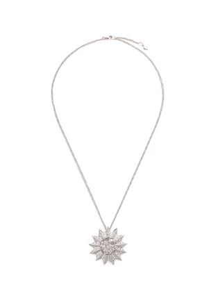 Melville Fine Jewellery-'Aurora' diamond 18k white gold sun pendant necklace