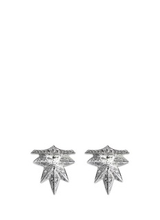 Melville Fine Jewellery 'Eastern Light' diamond 18k white gold spike earrings