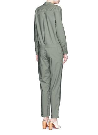 Back View - Click To Enlarge - Equipment - 'Blaise' cotton poplin jumpsuit