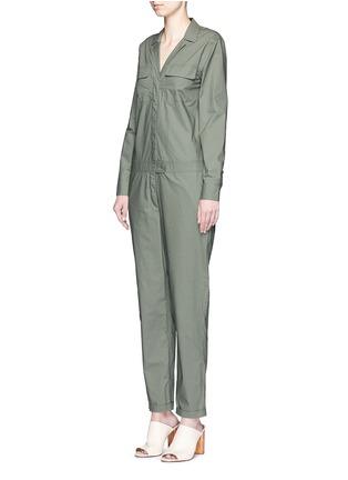 Front View - Click To Enlarge - Equipment - 'Blaise' cotton poplin jumpsuit