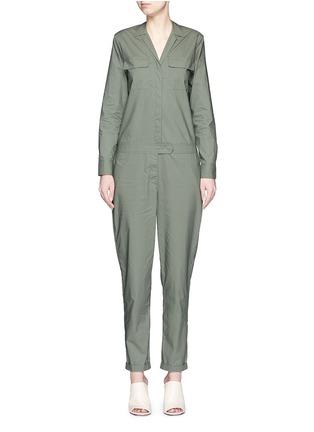 Main View - Click To Enlarge - Equipment - 'Blaise' cotton poplin jumpsuit