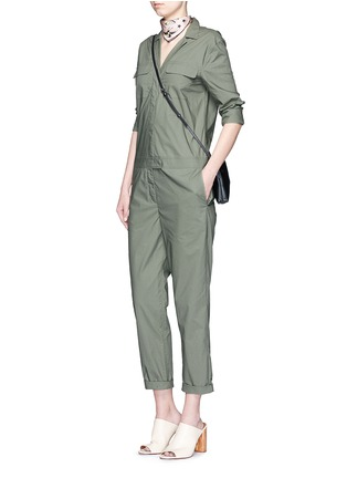Figure View - Click To Enlarge - Equipment - 'Blaise' cotton poplin jumpsuit
