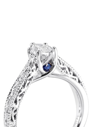 Detail View - Click To Enlarge - VERA WANG LOVE - Ice - Solitaire diamond ring