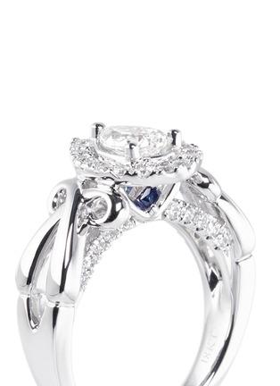 Detail View - Click To Enlarge - VERA WANG LOVE - Ribbons & Bows - diamond engagement ring