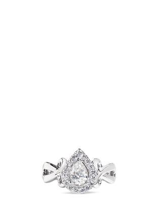 Main View - Click To Enlarge - VERA WANG LOVE - Ribbons & Bows - diamond engagement ring