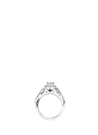 Front View - Click To Enlarge - VERA WANG LOVE - East Meets West - Diamond Engagement Ring