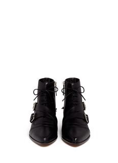 TABITHA SIMMONS 'Bryon' strap and chain leather boots