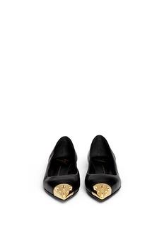 GIUSEPPE ZANOTTI DESIGN'Yvette' spike stud toe cap leather flats