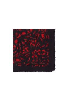 ALEXANDER MCQUEENMosaic tulips modal-silk scarf