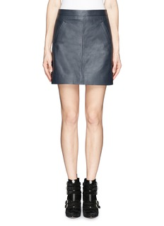 J. CREWCollection leather mini skirt