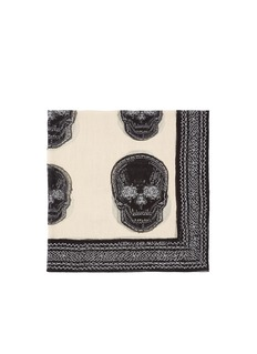 ALEXANDER MCQUEEN Skull and stitch print silk scarf