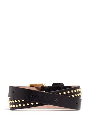 Back View - Click To Enlarge - Alexander McQueen - Double wrap stud bracelet
