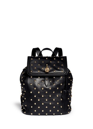 Main View - Click To Enlarge - Alexander McQueen - 'Padlock' stud leather backpack